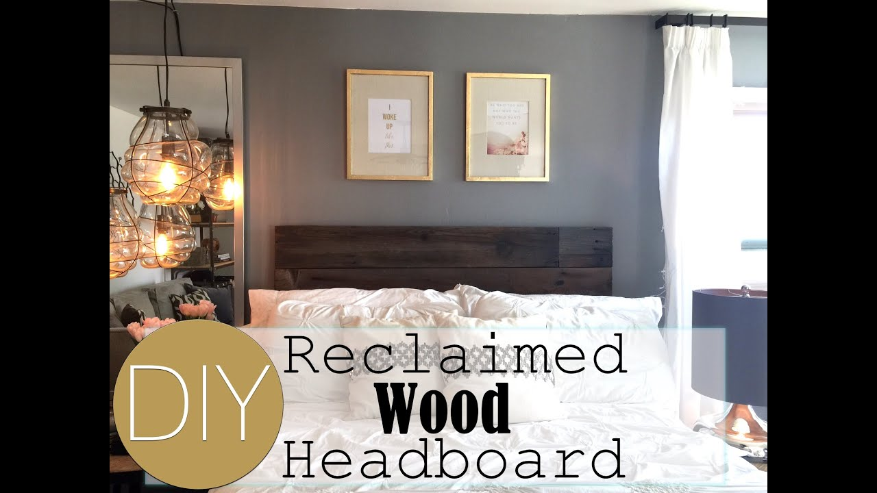 diy reclaimed wood headboard small apartment decorating live diy reclaimed wood headboard small apartment decorating live your style youtube