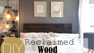 Diy Reclaimed Wood Headboard | How To: Live Your Style | Robeson Design