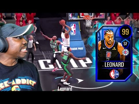 Secret 99 OVR KAWHI LEONARD Is A BEAST! NBA Live Mobile 20 Season 4 Gameplay Ep. 35