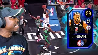 Secret 99 OVR KAWHI LEONARD is a BEAST! NBA Live Mobile 20 Season 4 Gameplay Ep. 35