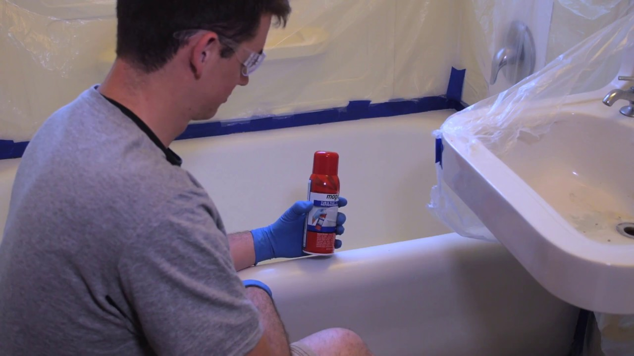 spray on tub tile refinishing kit