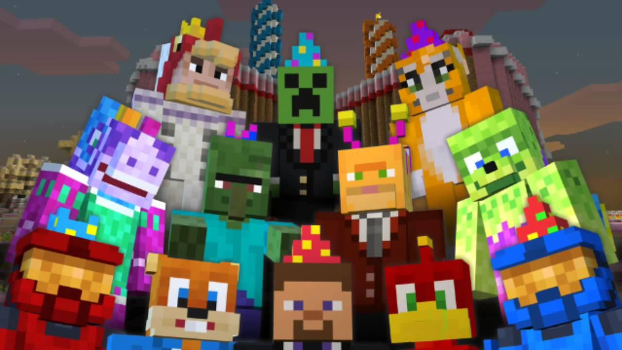 Busy Wallpaper Hd Minecraft Xbox Birthday Skin Pack 2 Years Youtube