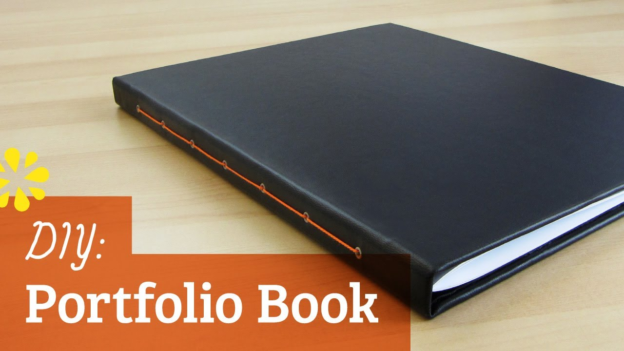How To Make Your Book Cover Look Professional ~ Diy portfolio book sea lemon youtube