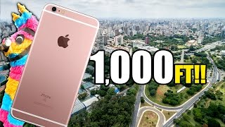 Can a Piñata Protect an iPhone 6s From 1000 FT Drop Test?!! WORST IDEA EVER??