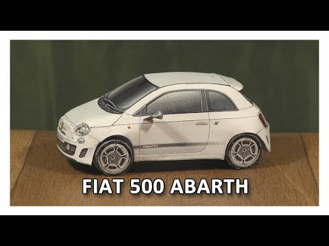 DIY Fiat 500 Abarth Paper Model