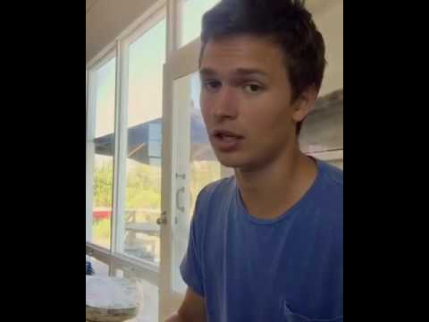 Ansel Elgort singing, Treat you better By Shawn Mendes