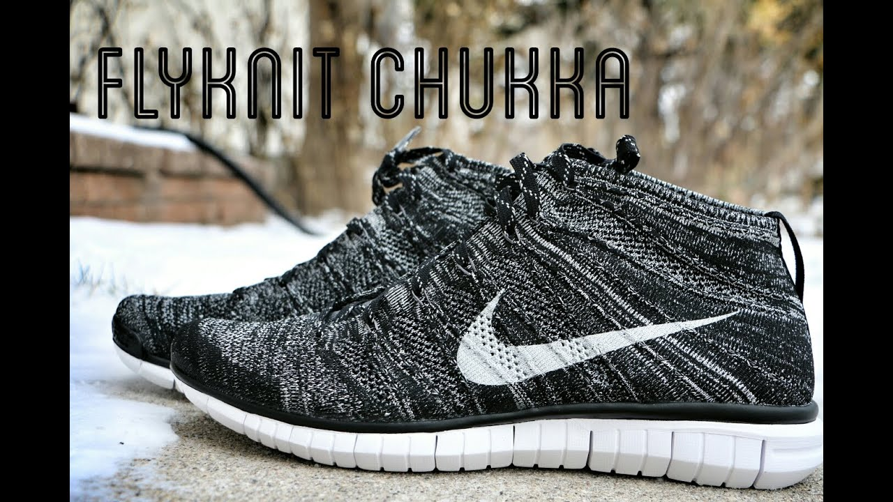 40dd4026ce99 Nike Free Flyknit Chukka Black White - Review + On Foot - YouTube