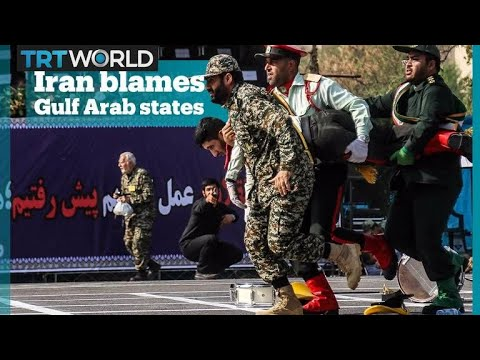 Iran blames Gulf Arab states for an attack on a military parade