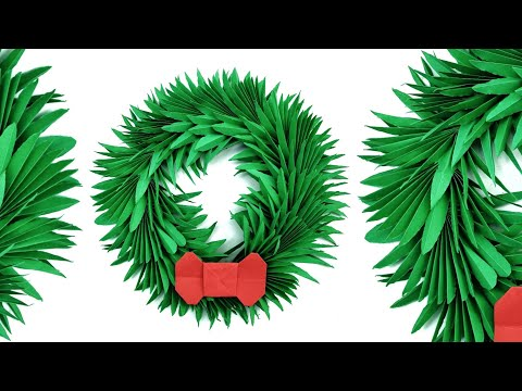 Christmas Wreath Decoration - DIY Tutorial by Paper Folds - 1015 thumbnail