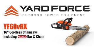 YF60vRX Chainsaw Video Nov 2020