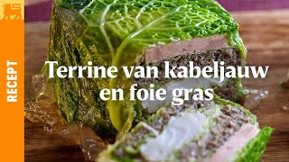 Terrine van kabeljauw en foie gras
