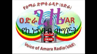 የዐማራ ድምጽ ራዲዮ  - Voice of Amara Radio - 31 Dec 2017