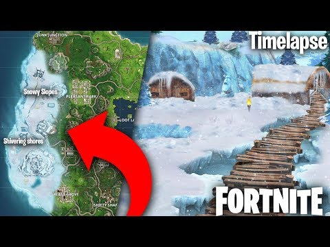 Fortnite Ice Village, New Location -  Timelapse (fortnite Season 5 Snow Biome, Map Changes Concept)