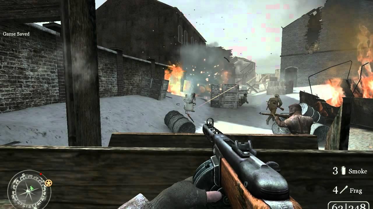 Call of Duty 2 on Nvidia Quadro NVS 110M HD - YouTube