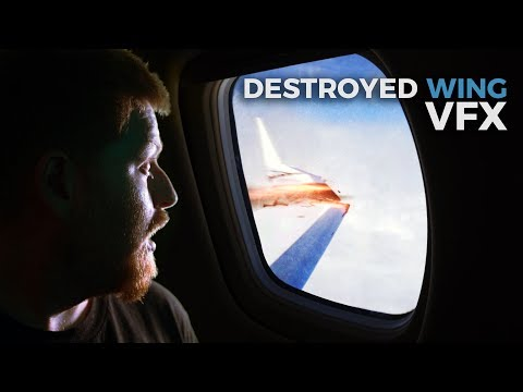 DESTROY an airplane wing with VFX! (#Davesplanation)