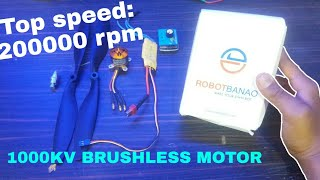 Top speed: 200000rpm|1000kv Brushless Motor kit assembly+test