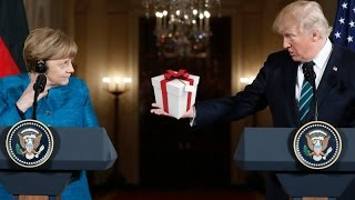 Merkel was Handed a GIFT she did NOT expect by President Trump on Her Visit to Washington DC!!!