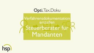 Verfahrensdokumentation erstellen - Steuerberater für Mandanten