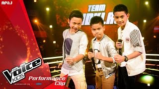 The Voice Kids Thailand - Battle Round - ยะ VS โอเลี้ยง VS ภูมิ - กินข้าวยัง? - 28 Feb 2016