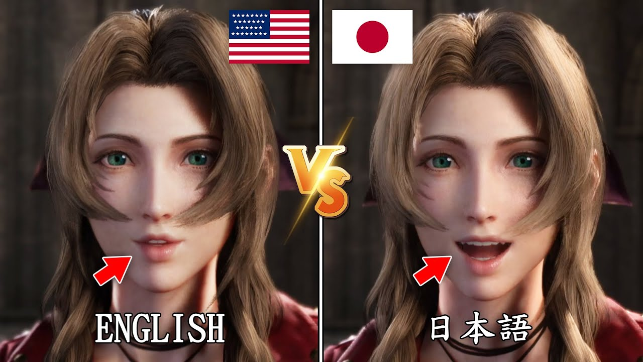 FF VII Remake - Lip Syncs and Gestures Details in Different Languages