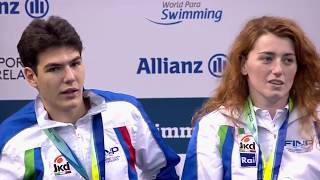 Mixed 4x50m Freestyle Relay 20pts Medal Ceremony | Dublin 2018