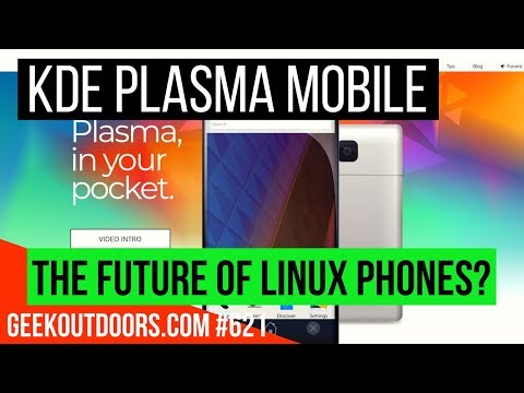 KDE Plasma Mobile Review (Early Look) | The Future of Linux Phones? #Geekoutdoors.com EP621