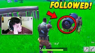 I Followed a Fortnite STREAMER Inside a CANNON without notice.. (Fortnite Battle Royale)