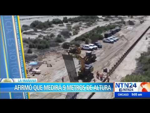 """""""Se está construyendo"""": Trump sobre el muro fronterizo entre EEUU y México"""