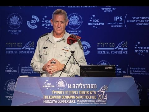 Lt. Gen. Benny Gantz, Chief of the IDF General Staff speakin