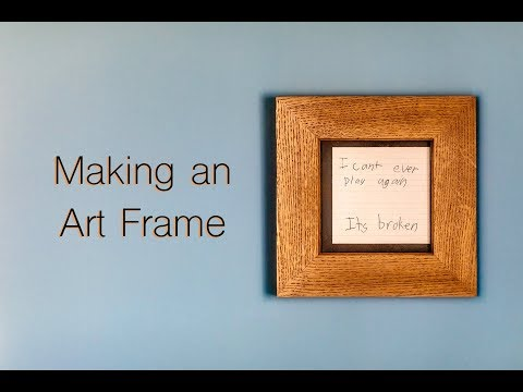 Picture Frames From Reclaimed Oak Flooring // Woodworking // DIY