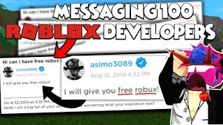 sending 100 dms to roblox developers and THIS PERSON replied
