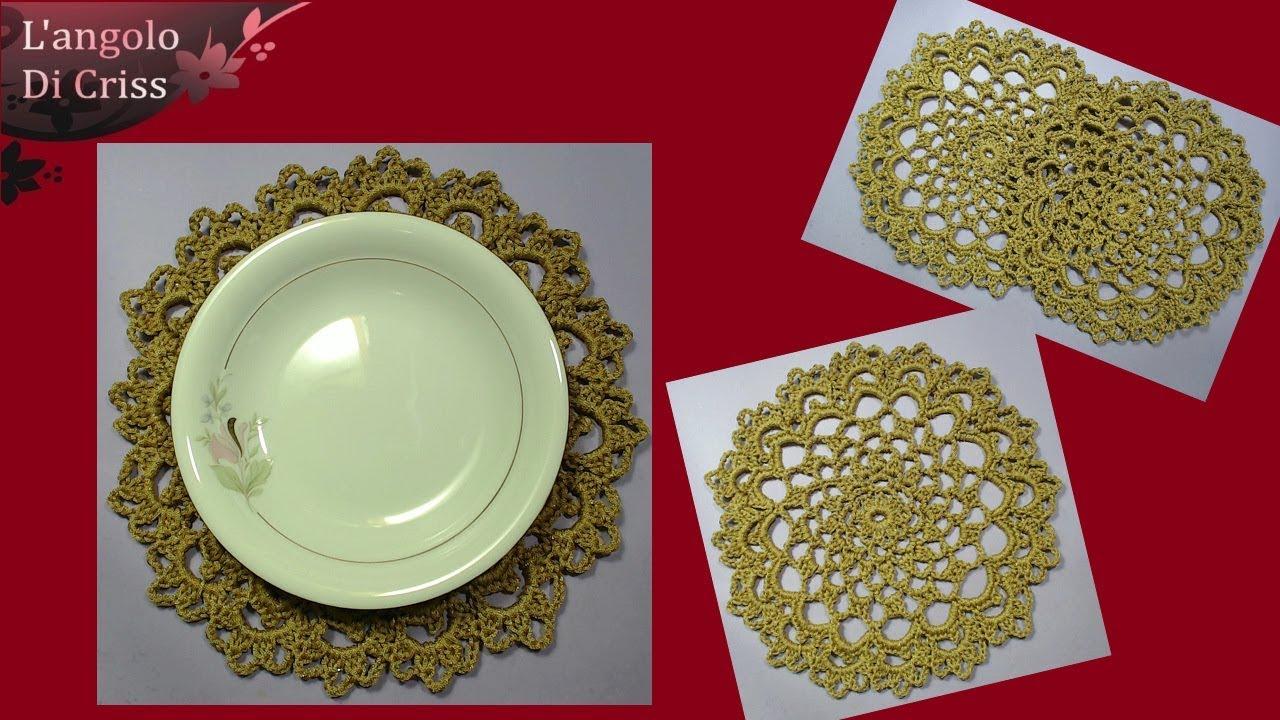 Sotto Piatto Alluncinetto Gold Elegance Uncinetto Facile Passo