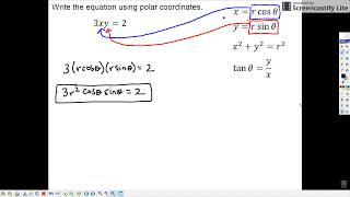 Honors Math 3 - 12.1.6: Writing Equations Using Polar Coordinates
