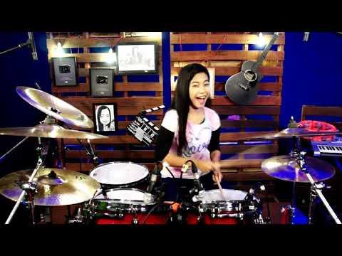 DJ aiyah aku suka wajah jamilah drum cover by nur amira