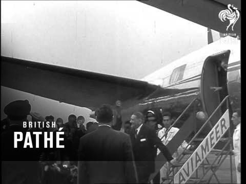 Visit Of President Coty To The Brussels International Exhibition (1958)