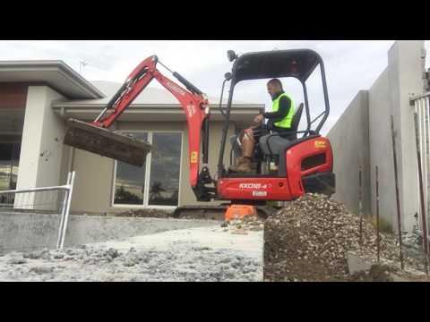 Mini Excavator Digger With Tilt Power Head Backfilling Walls
