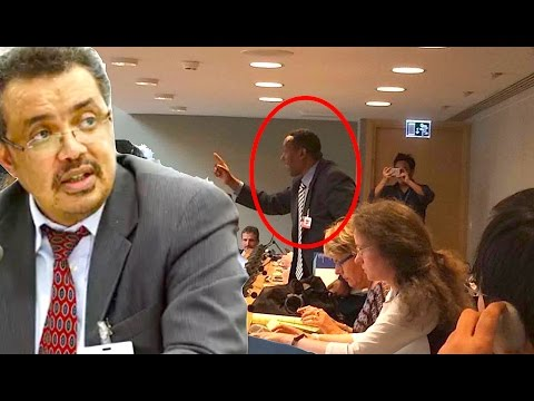 Ethiopian activist disrupts WHO assembly to protest Dr. Tedros Adhanom