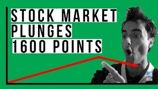 Stock Market FREE-FALL 1600 Points! Here's What TRIGGERED It and Why This Was Your Warning!