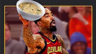 Jr Smith Suspended for Throwing Soup at the Cavs Assistant Coach!