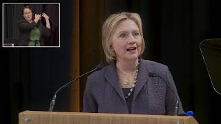 Public lecture by former US Secretary of State, Hillary Rodham Clinton at Trinity College Dublin