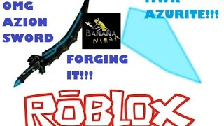 Roblox Gameplay: Forging The Azion Sword (Medieval Warfare: Reforged)