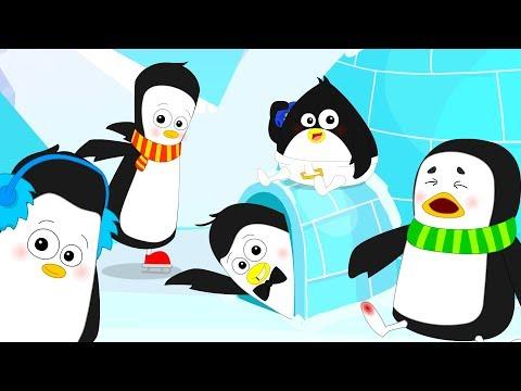 Five Little Penguins | Nursery Rhymes | Kids Songs | Children Rhymes | Bud Bud Buddies