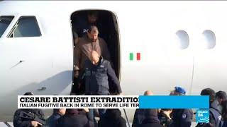Cesare Battisti back in Italy to serve life term for murder