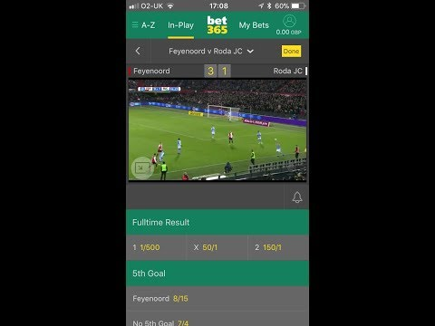 Bet365 Football Challenge £20 To £500 In 3 Days In Less Than 10 Bets!