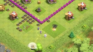 Clash of clans level 3 Wizard Tricks - Wizard Heroic attack