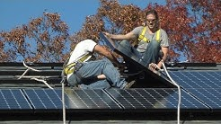 """Installing Solar Panels at the First """"Solarize Brookhaven"""" Home"""