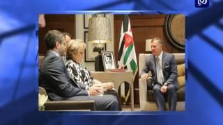 جلالة الملك يؤكد مجددا ضرورة إطلاق مفاوضات سلام جادة وفاعلة على أساس مبدأ حل الدولتين - (3-5-2017)