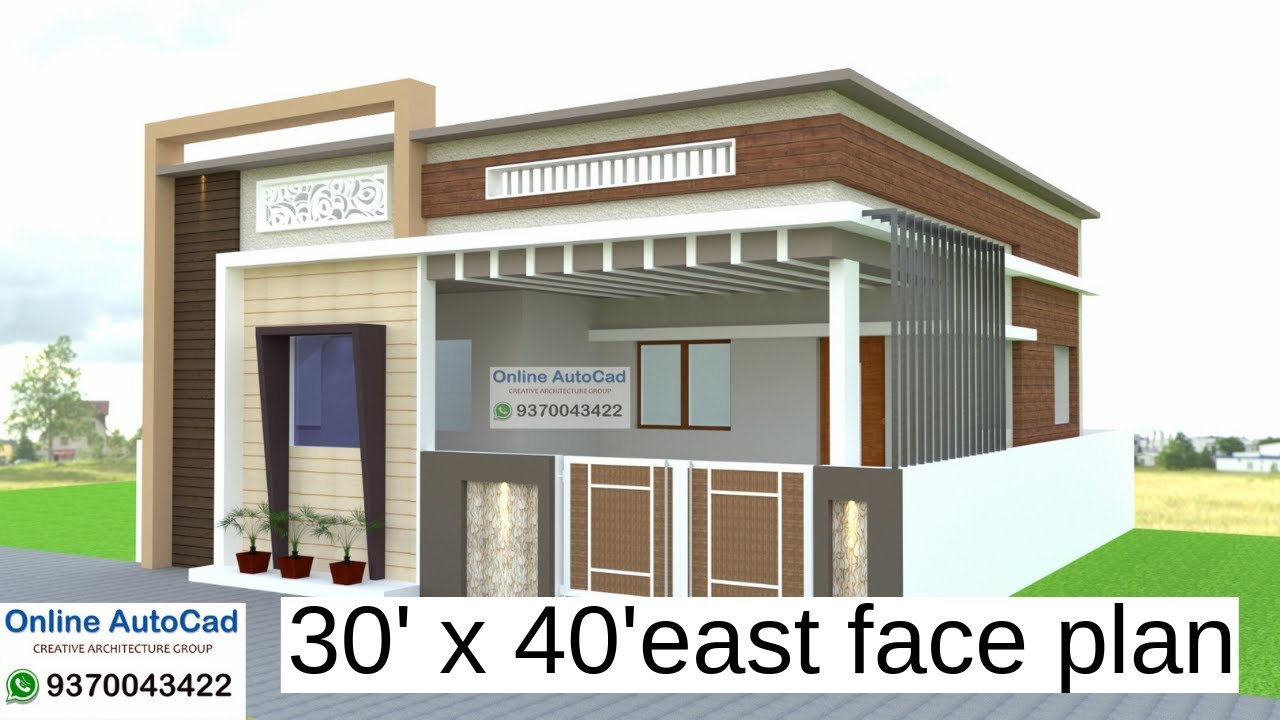 30 X 40 East Face 3 Bhk House Plan Explain In Hindi