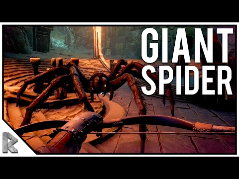 GIANT SPIDER BOSS FIGHT - FIRST DUNGEON! - Conan Exiles Gameplay #14