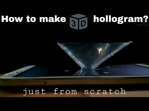 Turn your Smartphone into a 3D hollogram player || 4K || take holographic experience in free